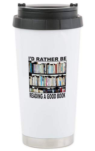 Bookish travel mugs! Do we really need to say more?